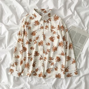 ROSES PRINTED SHIRT IN WHITE