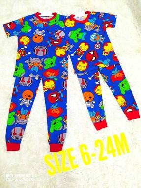 Pyjamas MINI AVENGERS : BABY 6M- 24M