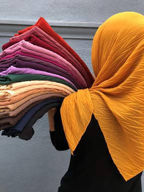 BAWAL CHIFFON PLEATED WAVE