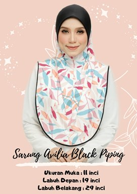 SARUNG AVILIA BLACK PIPING