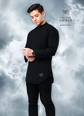Kurta Ammar For Him (Black)
