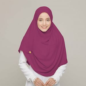 PLAIN SHAWL IN MULBERRY