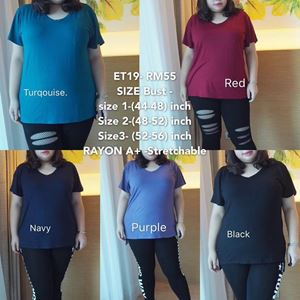 ET19 *Ready Stock r*Bust 44 to 56inch/112-142cm