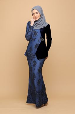 DEWI BLACK / ROYAL BLUE (ADULT)