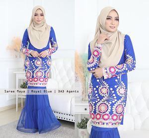 Kurung Saree Maya Royal Blue