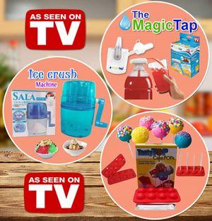 Ice Crush Machine + Magic Tap + Tasty Cake Pops SET