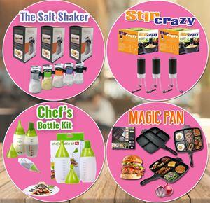 Magic Pan + Stir Crazy + Bottle Kit + Salt Shaker SET
