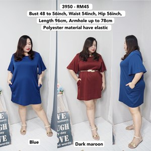 3950 *Ready Stock *Bust 48 to 56inch /120 - 142cm