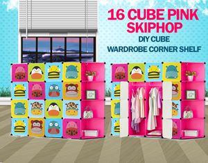 Skiphop Pink 16C DIY Cube w Corner Rack (SK16CP)