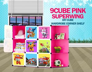 SuperWings Pink 9C DIY Cube w Corner Rack (SW9CP)