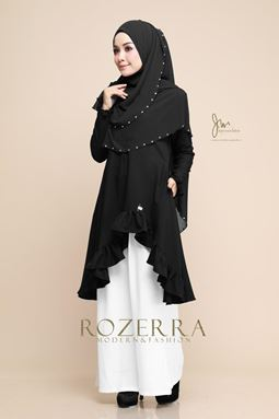 BLOUSE ROZERRA - BLACK