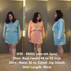D30 *Ready Stock *Bust 44-56 inch 110-142cm