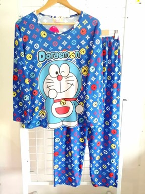 Pyjamas Dewasa Strong Blue Doraemon LV