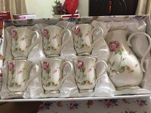 QUEENS TEA SET - BUNGA COUNTRY ROSE