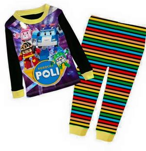 Pyjamas Set - Robocar Poli Black Colourful