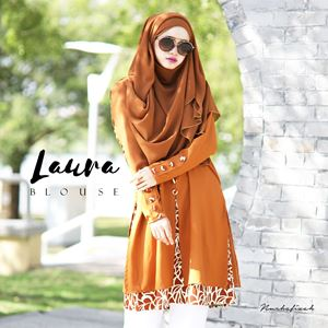 LAURA BLOUSE - BROWN