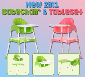 New 2in1 Babychair & Table Set