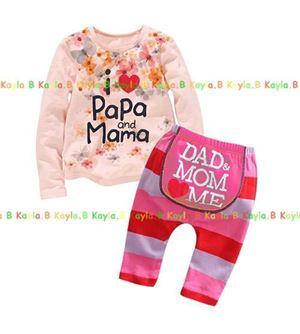 Baby Pyjamas - I Love Papa & Mama