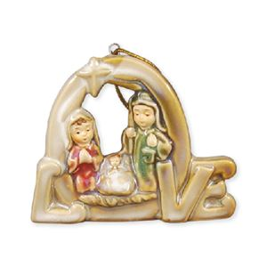 Porcelain Multi-Glazed LOVE Ornament