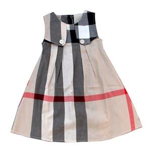 2615  BURBERRY DRESS ( SIZE 2Y-7Y )  BROWN
