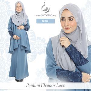 Peplum Eleanor Lace : Blue