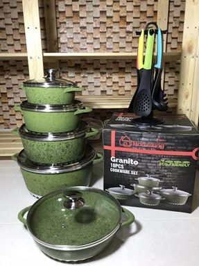 GRANITO GREEN+ SET SENDUK NYLON COLORFUL COOKSTYLE