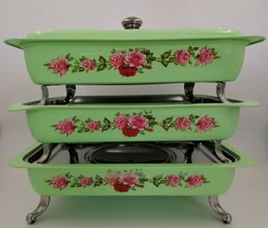 BUFFET VINTAGE TRAY 3pcs/set - GREEN ( 8L )