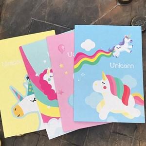 Unicorn Single Line Notebook