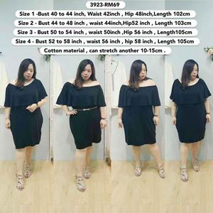 3923 Ready Stock *Bust 40 to  58 inch/ 101-147cm