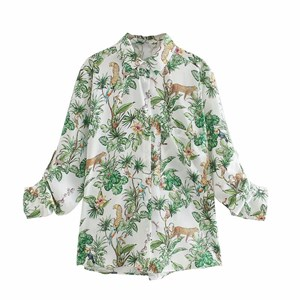 GREENY PRINTED TOP