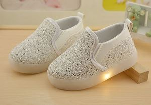 SHINE LIGHT UP SHOES WHITE COLOUR