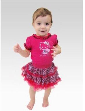 G 016/14 Hello kitty Top + Leapard Skirt (
