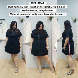 3924 Ready Stock *Bust 42 to  50 inch/ 106-127cm