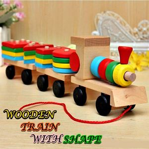 WOODEN TRAIN WITH SHAPE