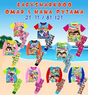 Baby Shark Doo / Omar & Hana Pyjama (A554-562) - (2T-7T) / (8T-12T)