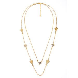 CHLOE+ISABEL PAVE TRIANGLE CONVERTIBLE LAYERING NECKLACE INSPIRED