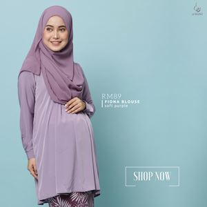Fiona Blouse : Soft Purple