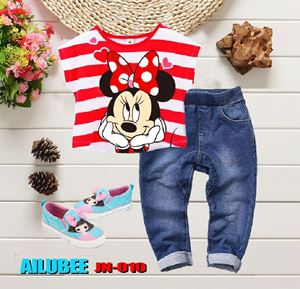 JN010 ( MINNIE ) AILUBEE JEANS 2pcs SET