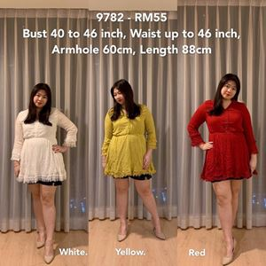 9782 *Ready Stock* Bust 40 to 46 inch/ 101-116cm