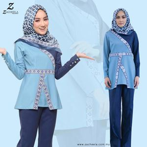 BAHIRA BLOUSE & PANTS (BLUE)