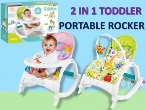 2 IN 1 TODDLER PORTABLE ROCKER N00938