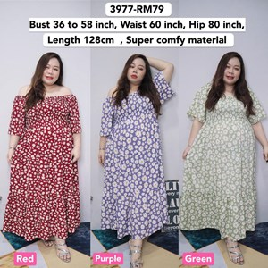 3977 *Ready Stock *Bust 36 to 58 inch /91 -147cm