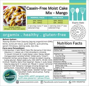 Casein-Free Moist Cake Mix- Mango