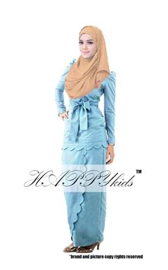 @  HAPPYKIDS SCALLOP  ( WOMAN - LIGHT BLUE  )  S-2XL