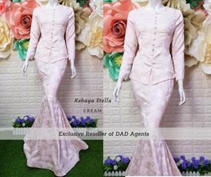 Kebaya Brocade Stella Cream