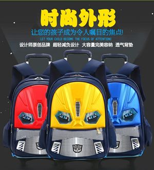 Transformer Trolley 6 Wheel School Bag