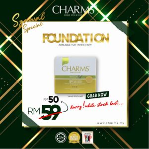 CHARMS FOUNDATION WHITE FAIRY (20GM) - BONUS RAMADHAN