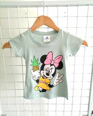 T-Shirt Short Sleeve Minnie Selfie Mint: Size 1y-6y (1 - 6 tahun) RS