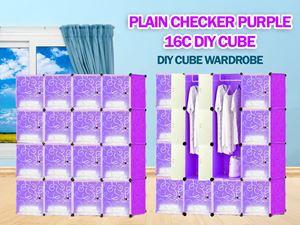 Plain Purple 16C DIY WARDROBE (PP16)