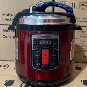 DESSINI PRESSURE COOKER RED